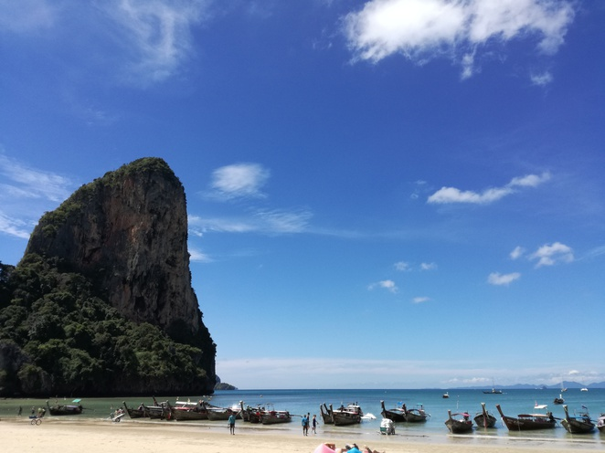 railay west beach krabi thailand sea
