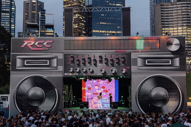 Royal croquet club boom box stage
