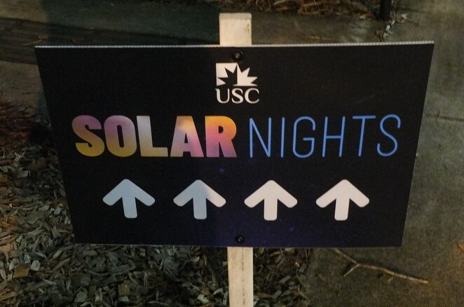 Solar Nights 2019, FREE Family Event, University of Sunshine Coast, USC, campus transformed, magical world of fantasy, light displays, sustainable energy, creativity, environment, community, Veolia, solar powering, stay and play, food trucks, Mexican food, gourmet calamari, loaded fries, donuts, ice-cream, coffee, reusable water bottles, no pets, wildlife reserve, free parking after 6.00pm, wheelchair access, gather your tribe, world of colour and creativity