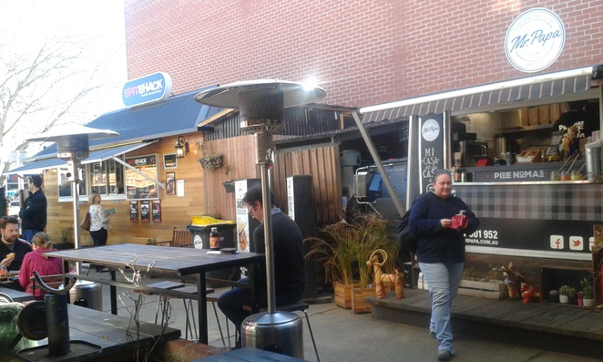 Spit shack, Mr Papa, The Hamlet, Lonsdale street, Braddon, Canberra, Food trucks