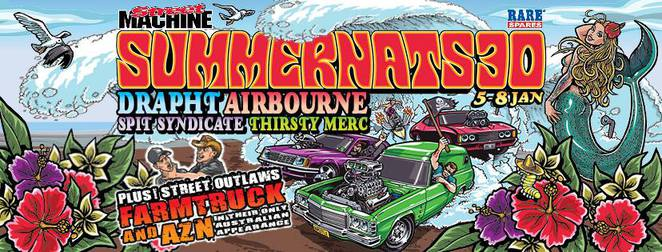 summernats 30, canberra, 2017, ACT, events, january, cars, burnouts, bands,