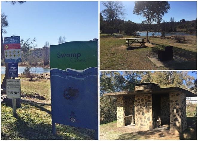 swamp creek, uriarra crossing, canberra, river swimming, BBQ areas, dog friendly, murrumbidgee river,