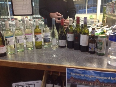The range of wines for tasting at Dan Murphy's