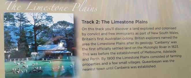 track 2, limestone plains, canberra tracks, ACT, self gudied tours, driving tours, history,