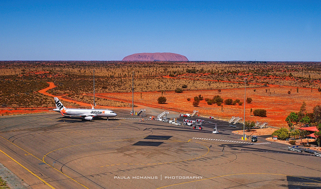 Uluru from Ayers Rock Airport
