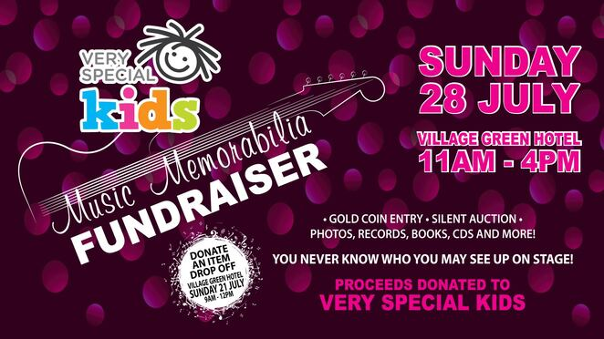 very special kids, fundraiser, music memorabilia, family, donate, charity, fun day,