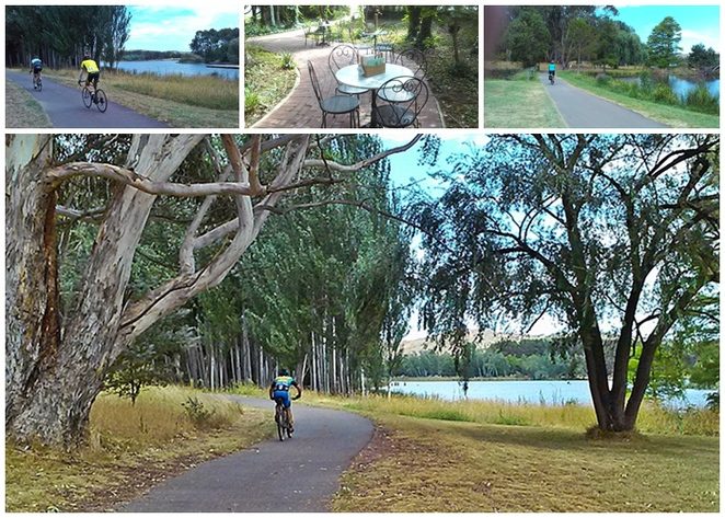 western loop, canberra, lake burley griffin cycling loop, ACT, walks, bike rides, westbourne woods, royal canberra golf club,