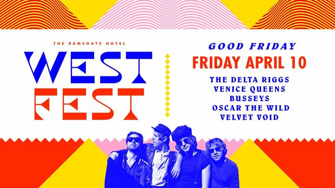 westfest 2002 good friday, community event, fun things to do, ramsgate hotel, bands, entertainment, the delta riggs, venice queens, busseys, oscar the wild, velvet void