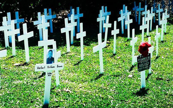 White crosses and equipment will be available for you to personalise your memory at ANZAC Cottage