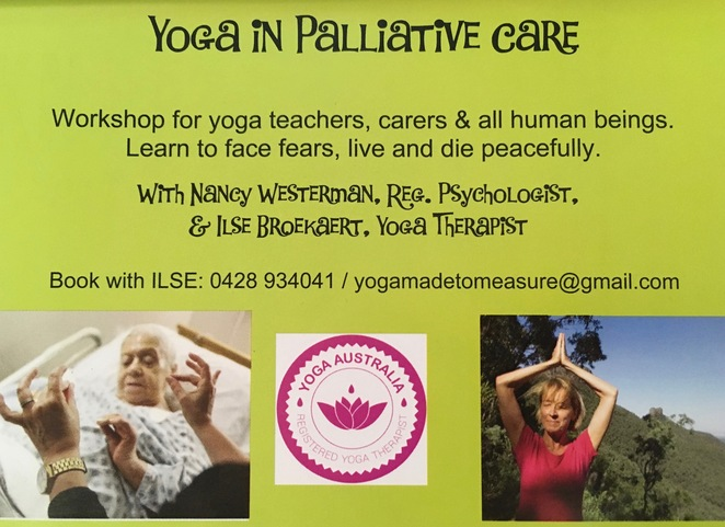 Yoga in Palliative Care Workshop Brisbane Ilse Broekaert