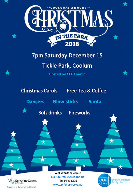 2018 Community Christmas Carols, Free Events, on the beach, in the park, Yandina Community Christmas Carols, Buderim Community Carols by Candlelight, 54th Peregian Beach Christmas Carols,The East Coast Originals, Peregian Beach Hotel, Skydive Noosa, Coolum's Christmas in the Park, Carols on Kings, picnic rugs, chairs, under the stars, fireworks, Glasshouse Country Community Carols, Kawana Carols by the Beach, Kawana Nippers, Carols at Cotton Tree, Nambour Community Carols & Twilight Christmas Markets, Christmas Care, Sunny Kids, make Christmas a memorable one