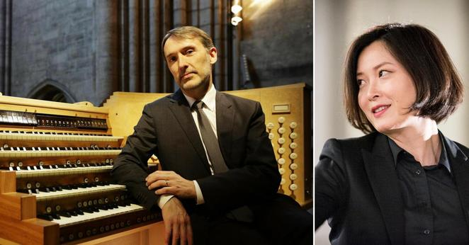 Acclaimed organists Olivier Latry and Shin-Young Lee