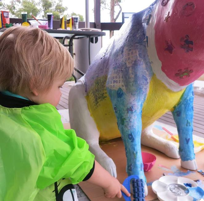animal art studio, art exhibition, community art, eastland shopping centre, kids art and craft, art and craft school holiday activities, cheap easter school holiday activities, easter school holidays