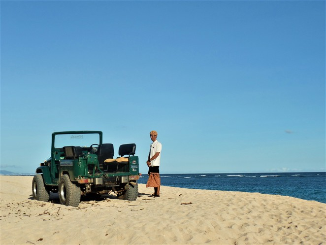 beach jeep service at Samabe Bali Suites & Villas