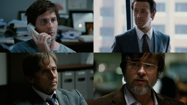 Carell, Gosling, Bale, Pitt, Oscars, Big Short