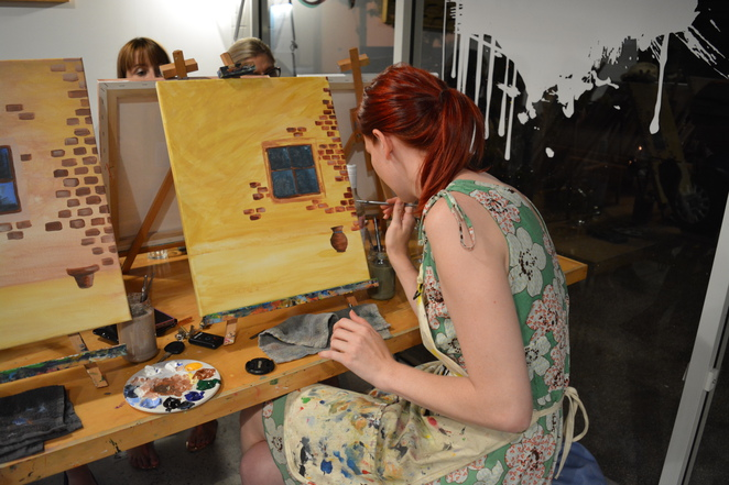 Cork and Chroma, Wine, Paint, Art, Artists, Class
