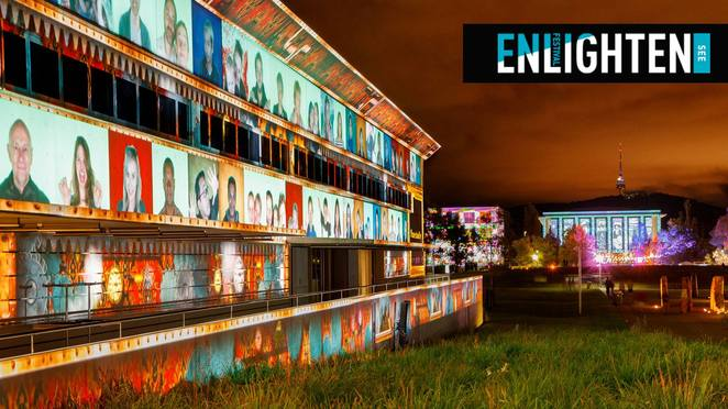 enlighten, canberra, festival, ACT, 2018, what's on, things to do, shows, night noodle markets,