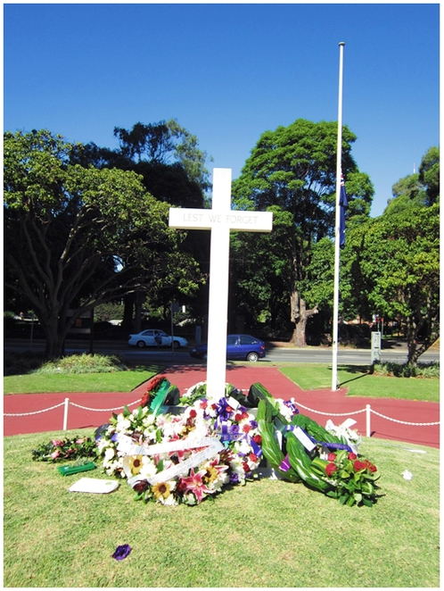 Garden of Remembrance, Chatswood, Willoughby, Anzac Day, Cross of remembrance,