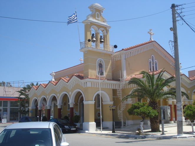 Greek church on port road