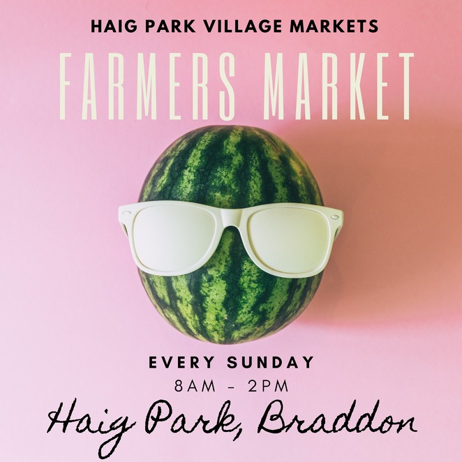 haig park village markets, community event, fun things to do, shopping local, farmers market, from farm to plate, fresh produce, regional producers, blooms, artisan bread, snacks, braddon, local farmers and producers, a community within a community, stall holders