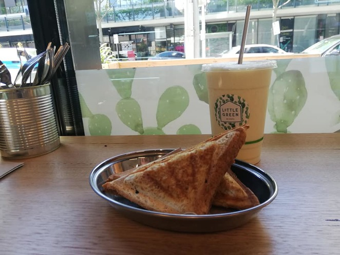 Veggie and vegan jaffles at Little Green on Chapel