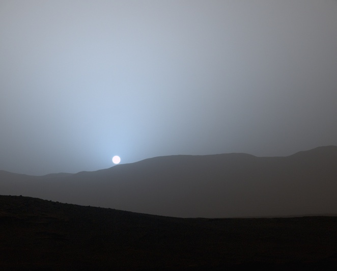 Mars Martian sunset curiosity