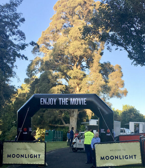 moonlight cinema melbourne 2019, community event, fun things to do, outdoor cinema, movie buff, food truck, coffee van, bar, botanic gardens melbourne, films, film stars, in the park, movies under the stars, family fun, gold grass, picnic at the movies
