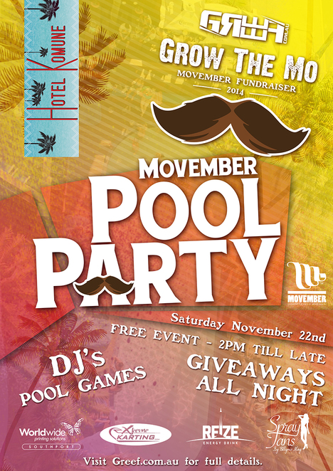 Movember Pool Party