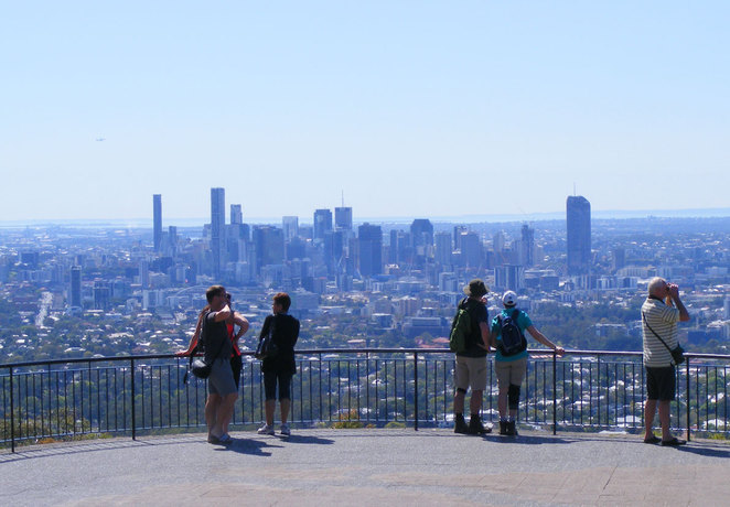 Enjoy Brisbane city views from Mt Coot-tha