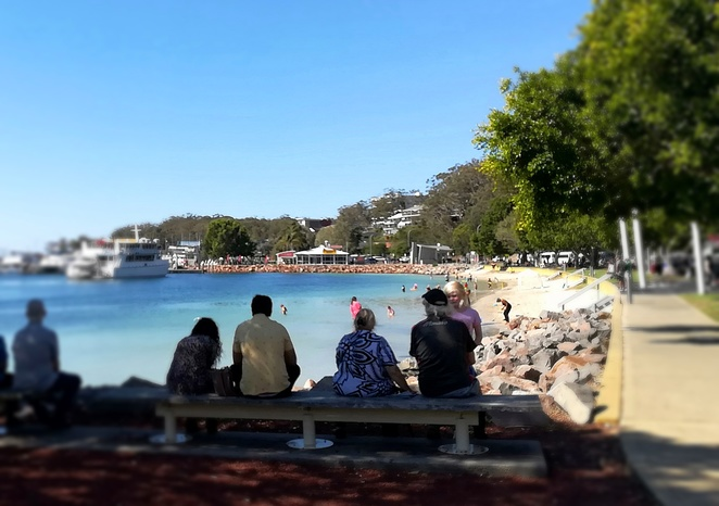 nelson bay foreshore, swimming, nelson bay, things to do, nelson bay water activities, marina, cruise boats, whale watching, dolphin cruises, parks, playgrounds, bbq areas,
