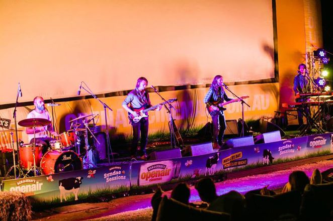 Live music at Ben & Jerry's open air cinema