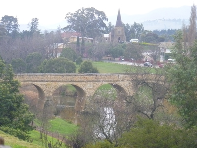 Richmond Bridge and Church with lovely trees