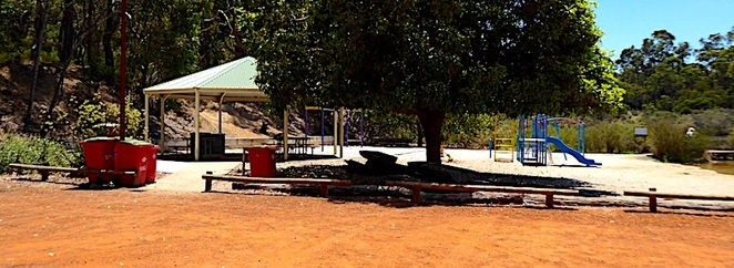 Play area, rest stop, Greenbushes Pool, Greenbushes WA
