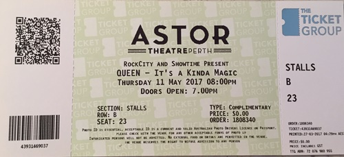 Queen,ticket