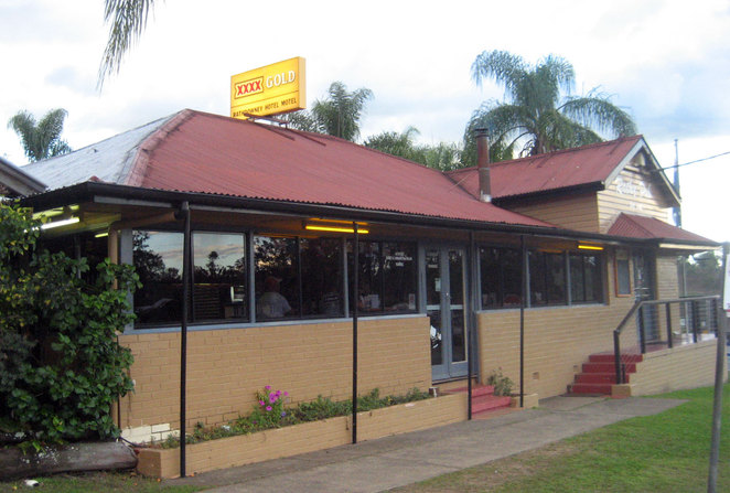 On the way back to Brisbane, why not stop in for a beer and a meal at the Rathdowney Pub