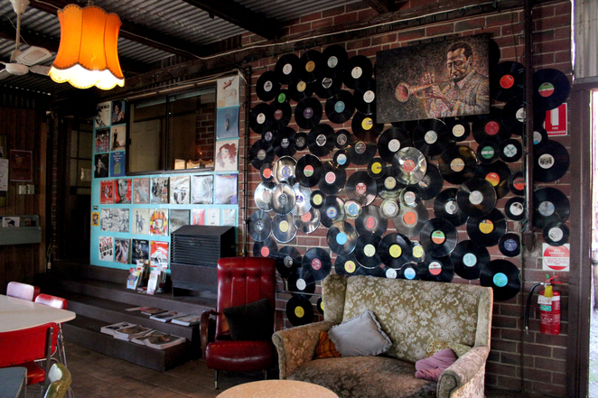 Vinyl Music Wall Cafe Komodo Prospect