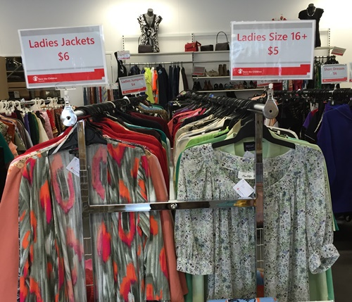 women's clothing at op shop