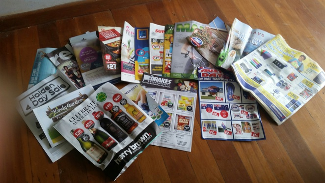 Advertising brochures from letterbox