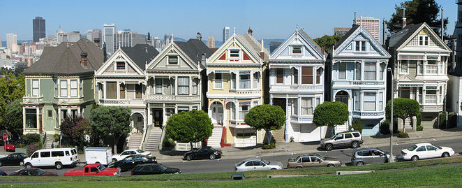 Best Places to visit in San Francisco, San Francisco bay area, Alamo Square, Painted Ladies