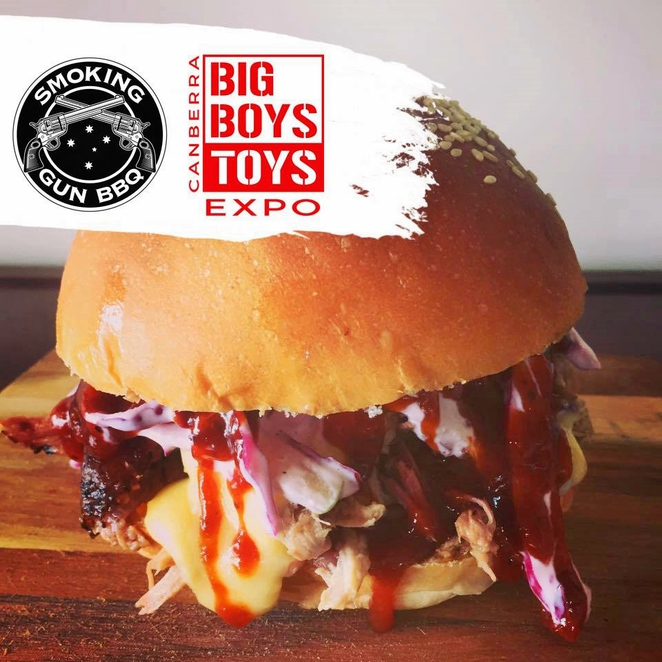 big boys toys expo, canberra, ACT, boys day out, smoking gun BBQ burgers, events,