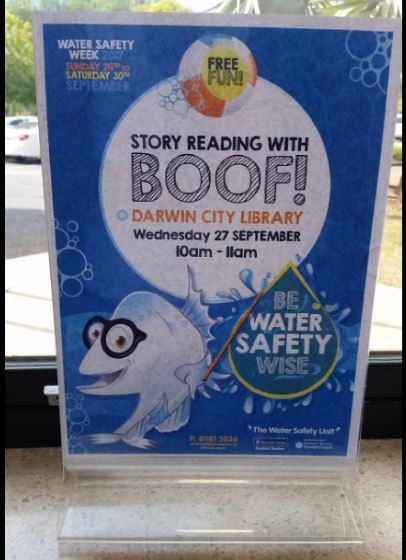 Boof the Barra, Water Safety Week 2017, Darwin libraries, free event, Darwin