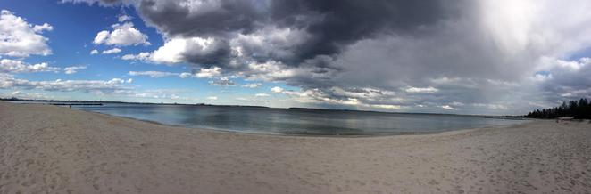 botany bay, ramsgate beach, monterey, clouds, blue sky, storm, rain, sydney, weather, changing, view