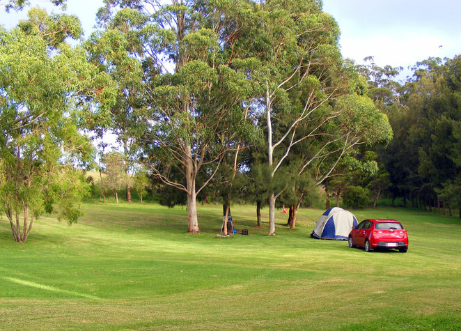Find a spot in a campsite far from others to be safe and sure