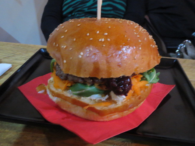 Crave Gourmet Pizza & Burger Bar, Philly Beets Burger, Adelaide