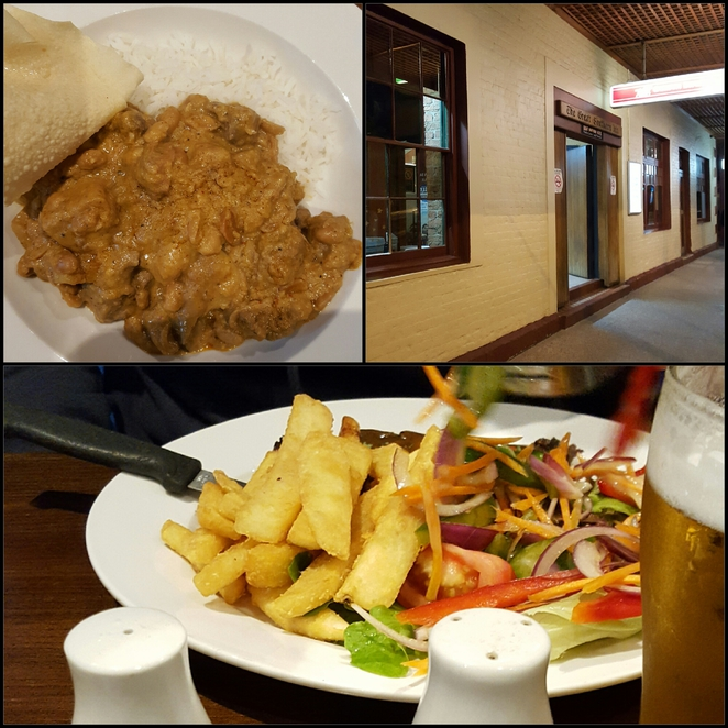Dinner, hotel, curry, pub grub