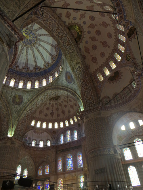 domes, sultanahmet, mosque, istanbul, turkey