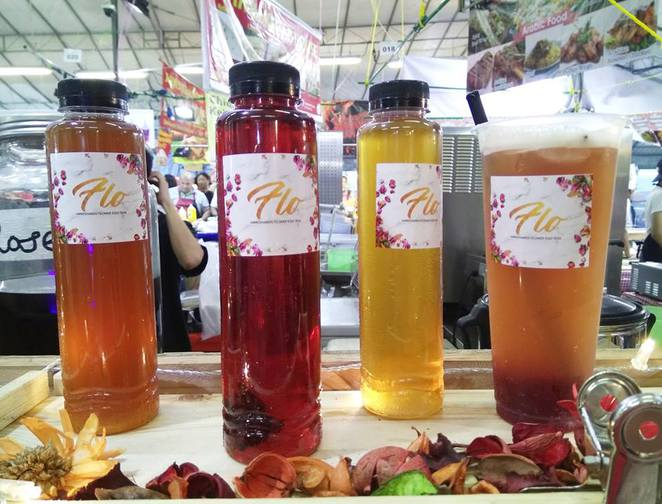 TulouSG, Geylang Serai, Hari Raya Light Up 2017, Hari Raya Light Up, Lebaran Singapore, Eid Mubarak Singapore, Ramadan Bazaar, pink guava ice tea, hibiscus honey ice tea, rose lychee ice tea