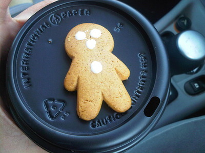 Coffee and Gingerbread man