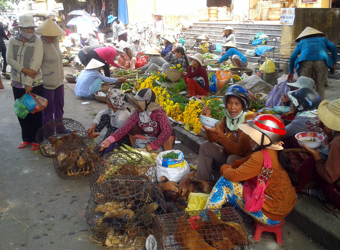 Street Market in the famous tourist town of Hoi An