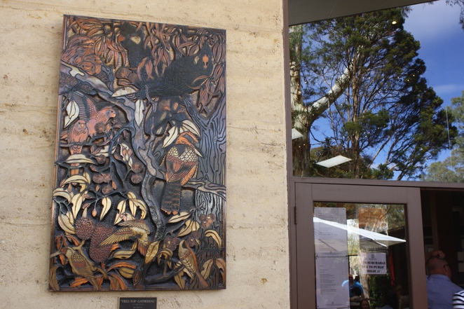 Outdoor mural.The dining area.Woodstock Coterie – photo Jenny Esots
